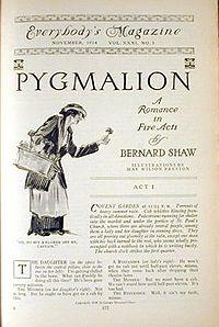 Pygmalion cover