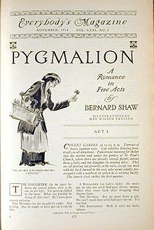 Pygmalion (play) - Wikipedia, the free encyclopedia