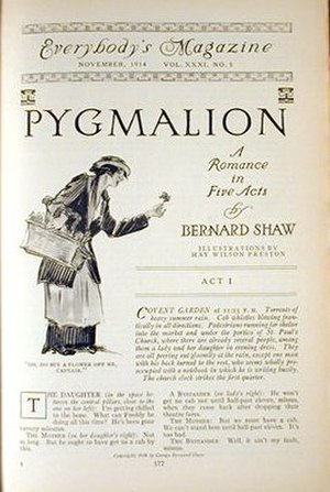 Everybody's Magazine - Cover of the November 1914 edition, in which George Bernard Shaw's Pygmalion began its serialization.