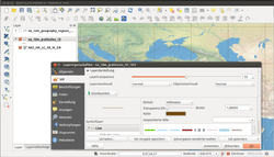 Screenshot of QGIS