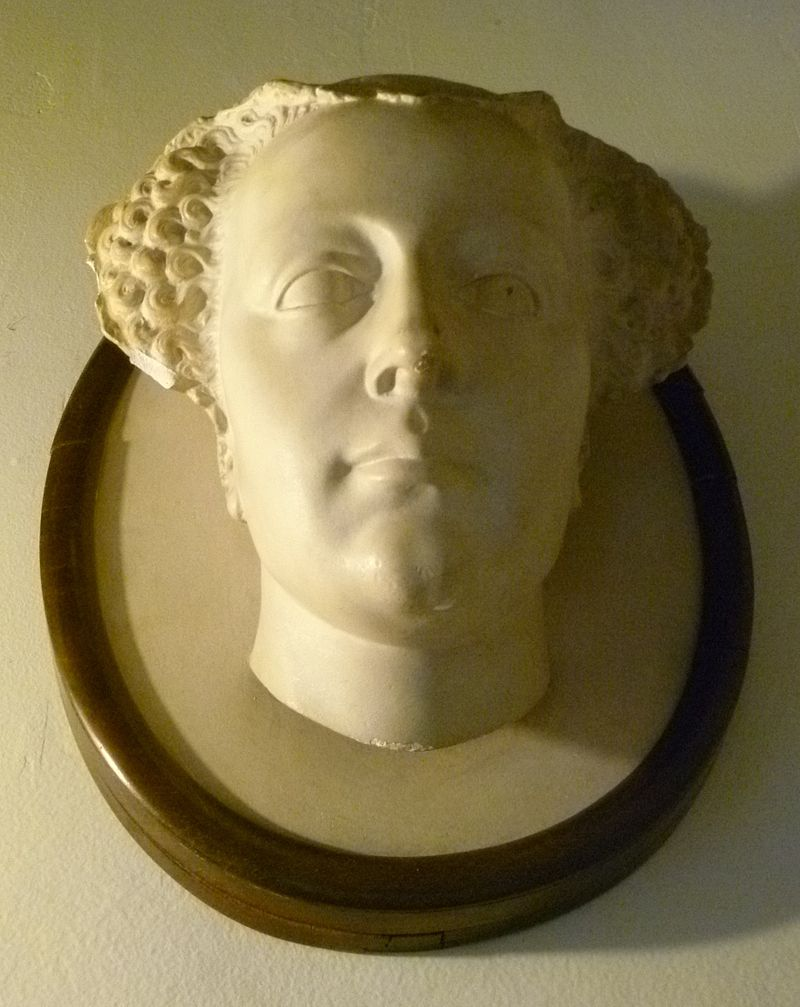 Queen Mary death mask copy, Falkland Palace.JPG