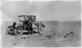 Queensland State Archives 2662 Motor car on the open country Diamantina Shire 1946.png