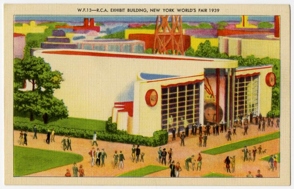 RCA Exhibit Building 1939 World's Fair Postcard 2007.016 front