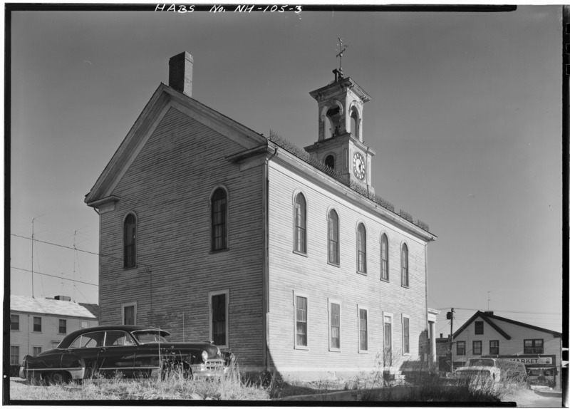 File:REAR, GENERAL VIEW - South Meeting House, Meeting House Hill, facing Marcy Street, Portsmouth, Rockingham County, NH HABS NH,8-PORT,76-3.tif
