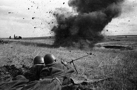 Soviet PTRD anti-tank rifle team during the fighting RIAN archive 4408 Armor piercers on the Kursk Bulge.jpg