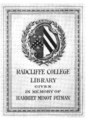 Radcliffe College Pitman Fund bookplate.png