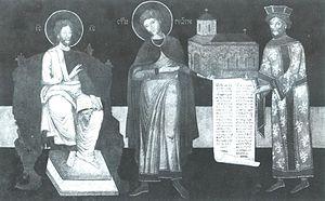Radič (veliki čelnik) - Radič granting his endowment to Christ