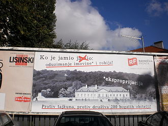 Workers' Front (Croatia) - Billboard poster of Workers' Front for 2015 Croatian parliamentary elections