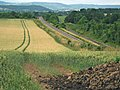 Railway passing through farmland, Durston - geograph.org.uk - 1397035.jpg