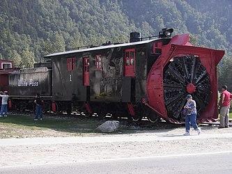 Railway rotary snowplow in Skagway, Alaska 2.jpg