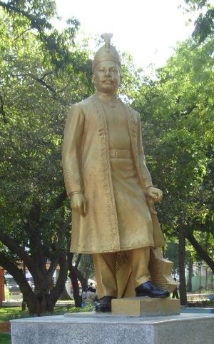 Raja of Panagal - Statue of the Raja of Panagal inside Panagal Park, Chennai