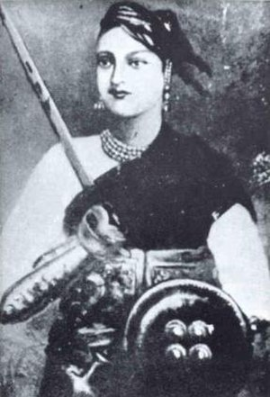Central Indian campaign of 1858 - Lakshmibai, the Rani of Jhansi.