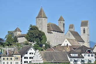 Elisabeth von Rapperswil - Rapperswil Castle and Stadtpfarrkirche Rapperswil, residence and parish church of Elisabeth von Rapperswil