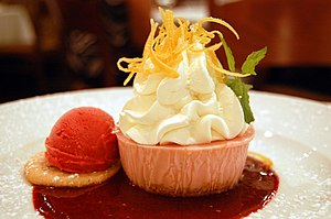 Lemon ice box pie - Image: Raspberry lemon ice box pie