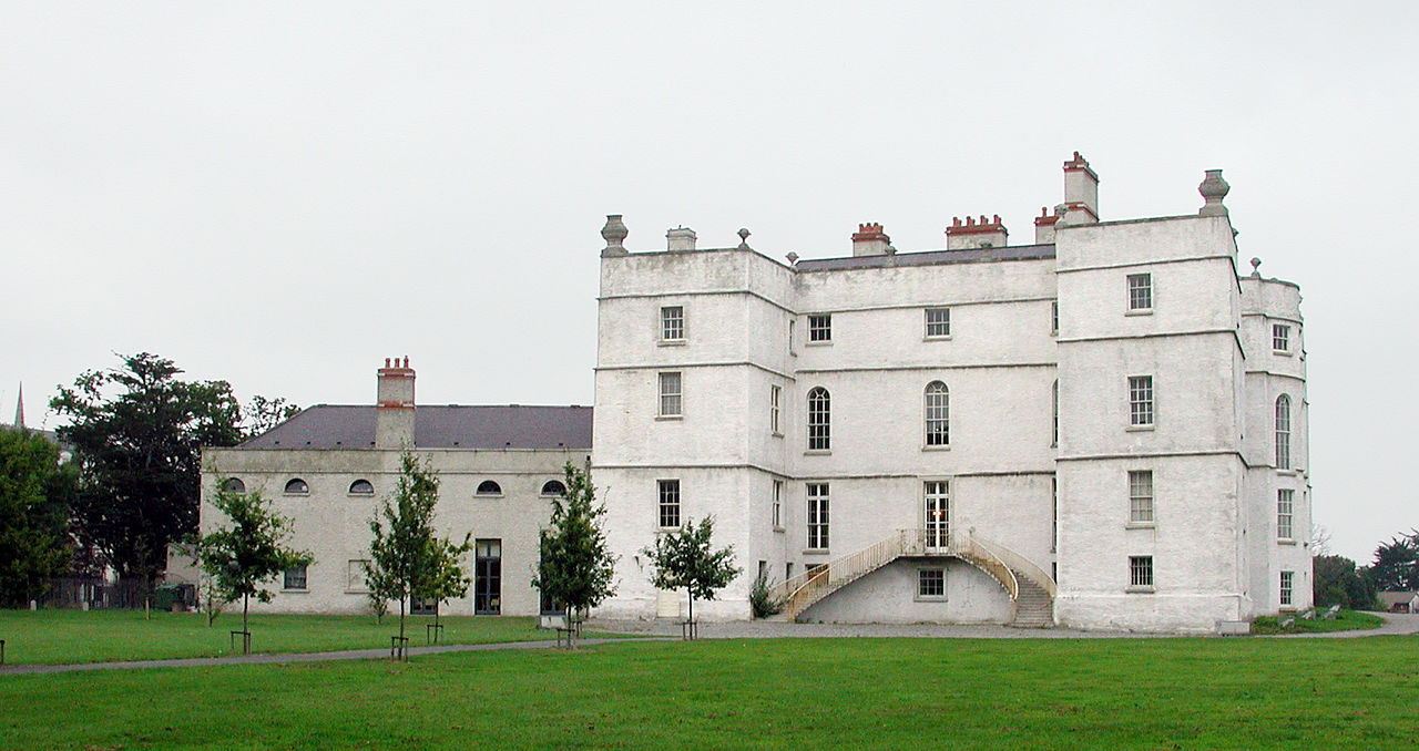rathfarnham castle from outside, image courtesy of Wikimedia