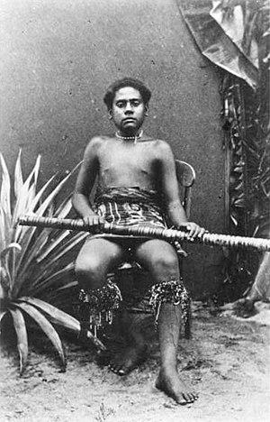 Josefa Celua - Image: Ratu Josefa, third son of Cakobau, photograph by Francis H. Dufty