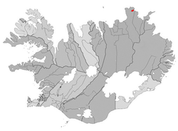 Location of the former Municipality of Raufarhafnarhreppur
