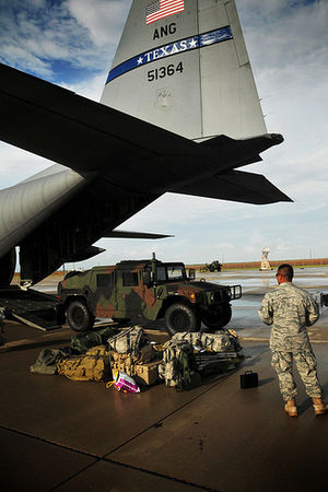 Hurricane Alex (2010) - Members of the Texas Air National Guard preparing for Alex