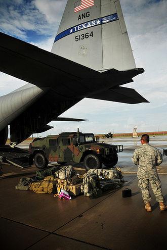 Hurricane Alex (2010) - Members of the Texas Air National Guard preparing for Alex