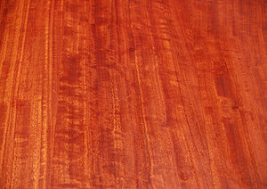 Wood grain - typically figured red gum table