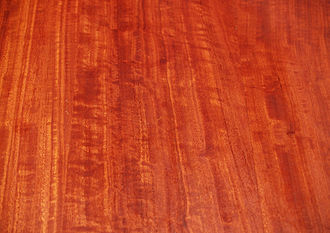 Figure (wood) - typically figured red gum table