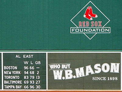2007 season final standing Red Sox 2007.jpg