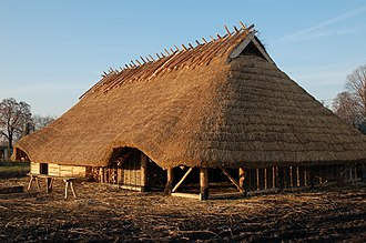 Wielbark culture - Reconstruction of a Wielbark culture house