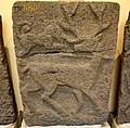 Relief orthostat showing a deer and a dog. From Sam'al citadel. 9th century BC. Museum of the Ancient Orient, Istanbul.jpg