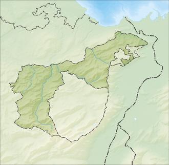 Reliefkarte Appenzell Ausserrhoden blank
