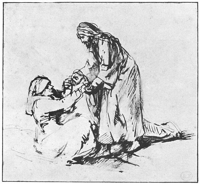 Rembrandt Heilung der Schwiegermutter des Petrus