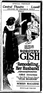 <i>Remodeling Her Husband</i> 1920 film by Lillian Gish