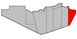 Location of Durham Parish within Restigouche C...