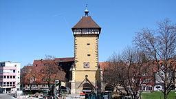 Das Tübinger Tor (früher Mettmannstor) in Reutlingen wurde im Jahr 1235 als Teil der Stadtmauer erbaut und 1330 mit einem Fachwerksaufsatz erweitert.
