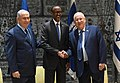 Reuven Rivlin and Benjamin Netanyahu received the President of Rwanda at Beit HaNassi, July 2017 (9175).jpg