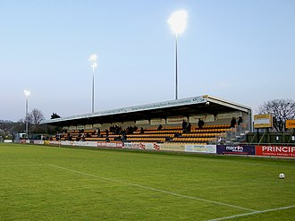 Carmarthen Town A.F.C. - Clay Shaw Butler Stand, Richmond Park (Carmarthen),