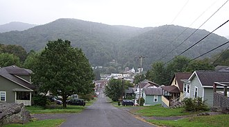 Richwood, West Virginia - Richwood is situated in a valley located in the Appalachian Mountains.