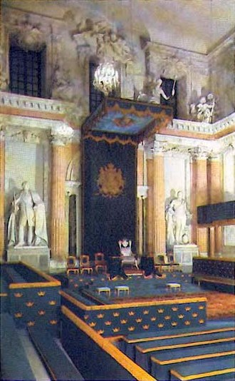 Carl Hårleman - The Hall of State at the Royal Palace in Stockholm