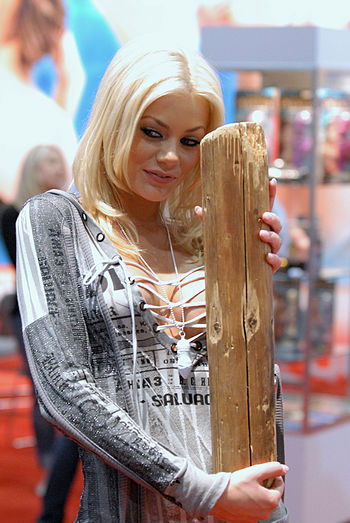 English: Porn star Riley Steele at the 2010 Ad...