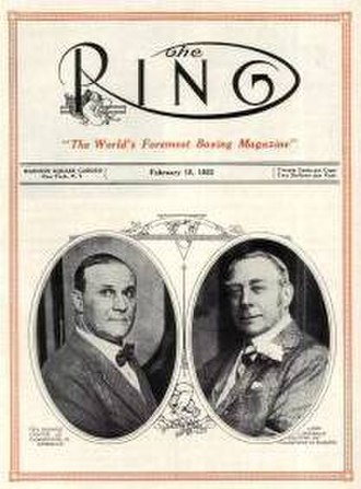 The Ring (magazine) - Cover of the first issue