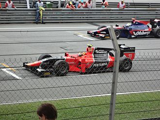 Rio Haryanto - Haryanto lining up alongside Marcus Ericsson during his first GP2 Series event in Malaysia, driving for Carlin.