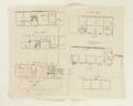 Ritningar och utkast till byggnad. Av Nils Bielkes hand, cirka 1700 - Skoklosters slott - 98154.tif
