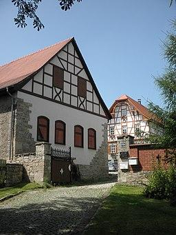 Manor in Münchengosserstädt (Saaleplatte) in Thuringia