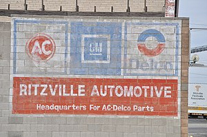 ACDelco - Old GM AC-Delco ad on the side of a building in Ritzville, Washington, U.S.