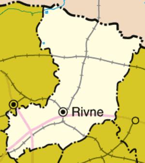 Rivne Oblast - Image: Rivne oblast detail map