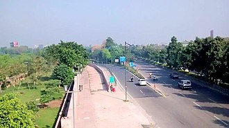Noida - A road in Noida