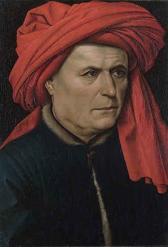 A Man and A Woman (Campin) - Portrait of a Man, c. 1435. 40.7cm x 28.1cm