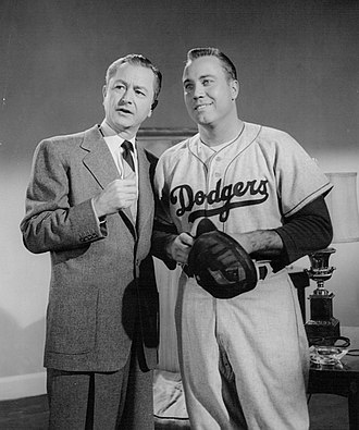 Duke Snider - Snider with Robert Young in Father Knows Best, 1956