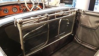 Folding table - Folding table of Rolls Royce Phantom I Open Tourer Windovers (1926)