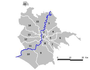 Administrative subdivision of Rome - The 15 Municipi of Rome