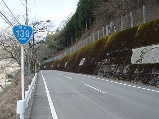 Japan National Route 139 road in Japan